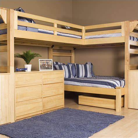 bedroom with two beds 2 215 4 bunk bed plans bed plans diy blueprints