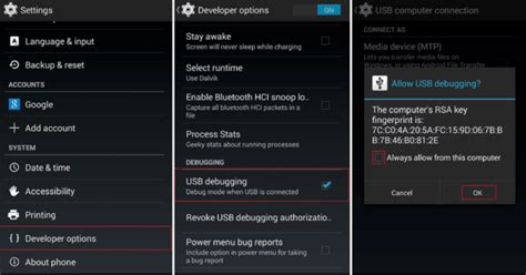 android debug mode how to enable usb debugging on android dhtechking