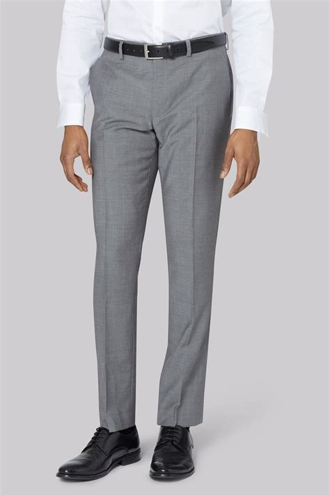 mens light grey pants dkny slim fit light grey trousers