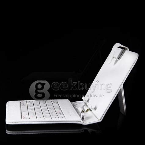 Leather Keyboar Tab 7 Micro by Universal Leather Keyboard Holster With Micro Port