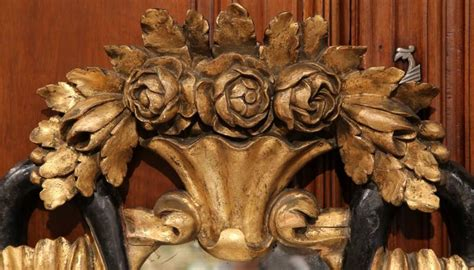 Mercury Baroque Made In Italy by 19th Century Italian Baroque Carved Gilt And Black