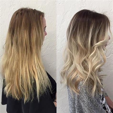 root drag hair styles root drag ombre balayage cool blonde balayage