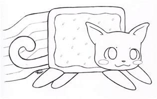 nyan cat coloring pages nyan cat lineart by xx on deviantart