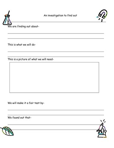 science report template ks2 science experiment planning sheet ks1 by ruthbentham uk
