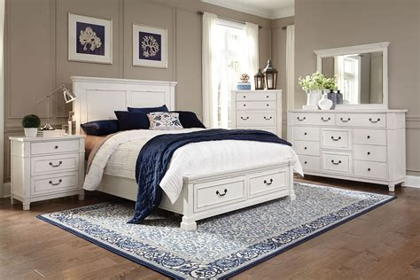 levin furniture bedroom sets taryn 4 piece king storage bedroom set antique white