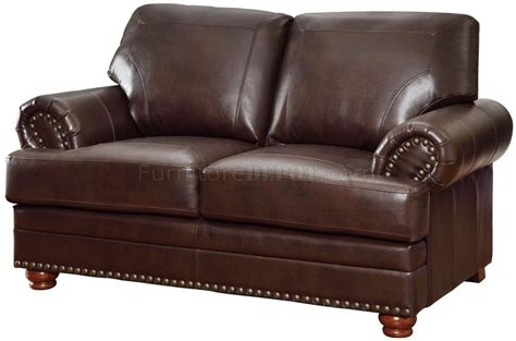 coaster leather sofa reviews colton sofa 504411 in brown bonded leather by coaster w