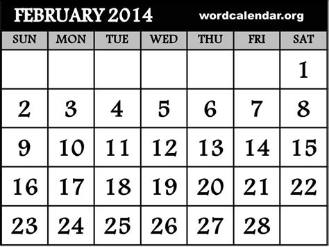february 2014 calendar template best photos of printable 2014 calendar template 2014