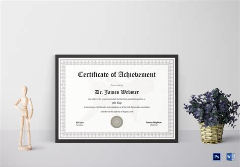 taekwondo certificate templates taekwondo certificate design template in psd word