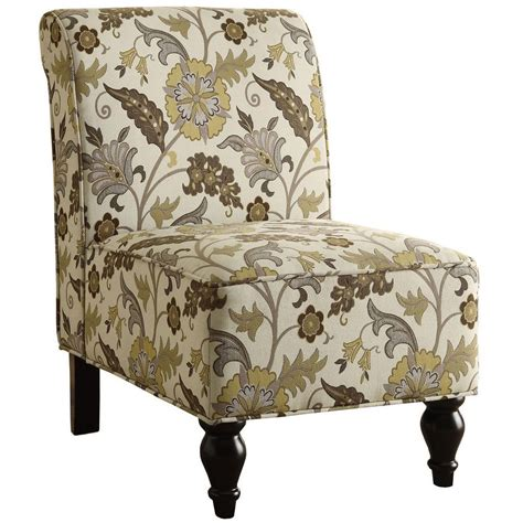 Floral Accent Chair Floral Accent Chair In Accent Chairs