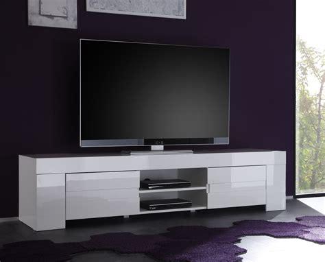 Grand Meuble Tv Blanc Laque