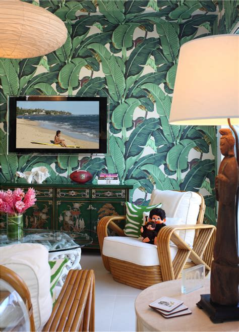 decoracion habitacion tropical estilo tropical con papel pintado la jungla en casa