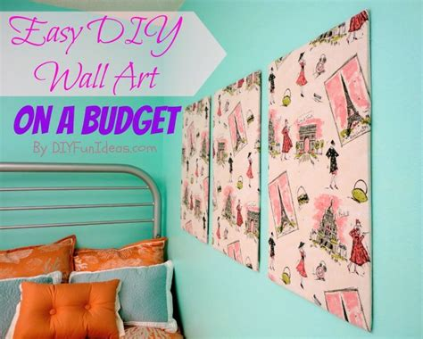 super easy fabric panel diy wall art on a budget do it