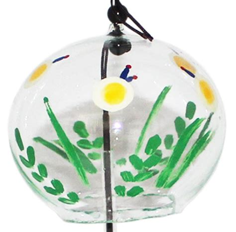 Japan Handmade - japanese handmade glass wind chime with paintings of
