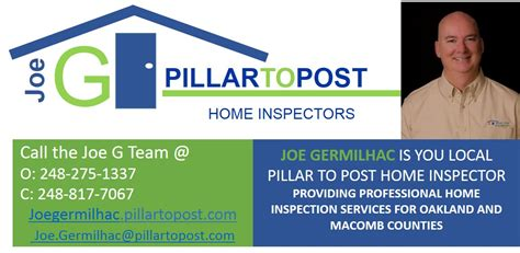 home inspection troy michigan pillar to post joe