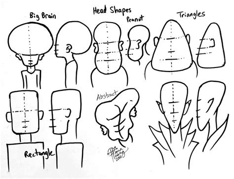 hair for diffrent head shapes draw different head shapes by diana huang on deviantart