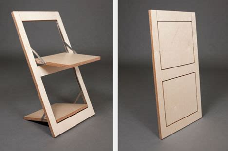 flat pack folding chair simple flat pack idea to reinvent the folding chair