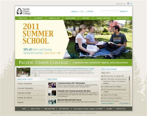 Pacific Union College Mba by Showcase Of Beautiful Websites Hongkiat