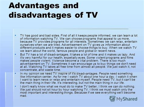 Essay About Advantages And Disadvantages by Essay On Advantages And Disadvantages Of Television We Can Do Your Homework For You Just Ask