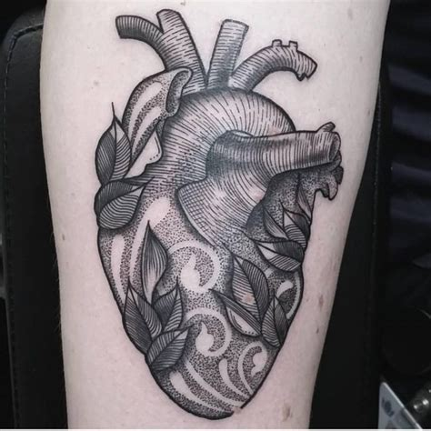 anatomical heart tattoos 110 best anatomical designs meanings 2018
