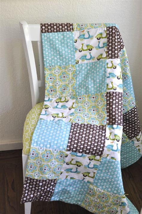 Easy Baby Quilt Tutorial by Simple Baby Quilt Tutorial Monaluna Organic Fabric