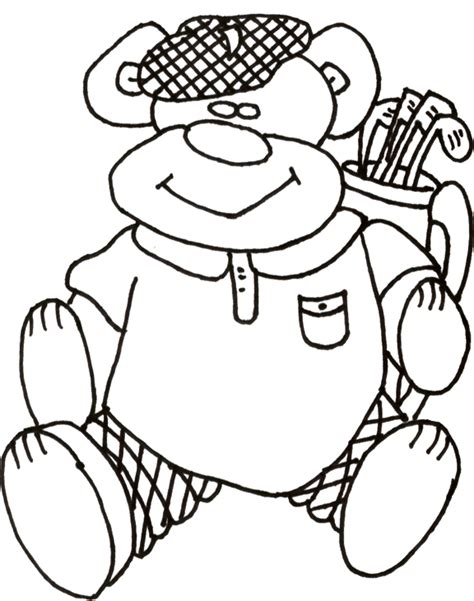 golf coloring book pages printable golf themed coloring pages for kids kids