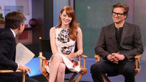 emma stone colin firth the biggest lie colin firth and emma stone tell their co