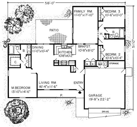 1600 square foot house plans 1600 square feet 3 bedrooms 2 batrooms 2 parking space