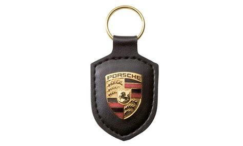 porsche design keychain porsche crest keyring black keyrings lifestyle