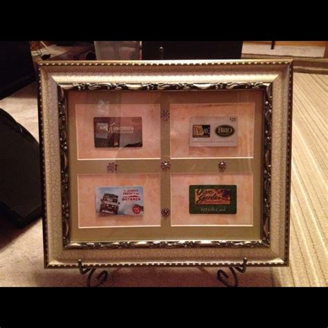 Gift Card Frame - an alternative to a raffle basket gift cards in a nice frame diy pinterest