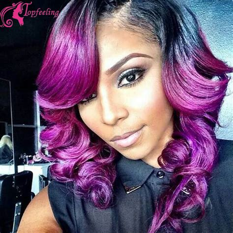 black people with purple hair save money with online coupon code two tone purple glueless full lace wigs with baby hair