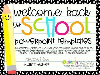 Back To School Open House Powerpoint Presentation Templates By Mrs Grauer Open House Powerpoint Template