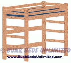 loft  bunk bed plan tall extra long twin