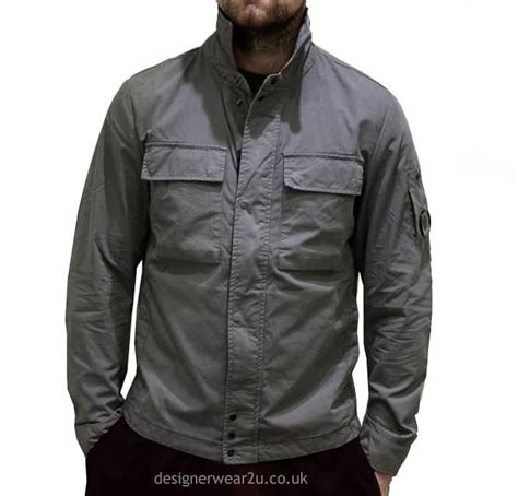 Cp Jaket Grey c p company cp company grey overshirt with lens jackets from designerwear2u uk