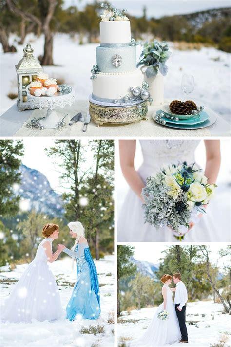 check out the frozen themed wedding disneys frozen winter wedding https