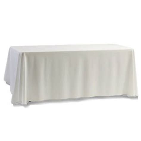 table with white tablecloth trestle table 6x2 with white table cloth excite display