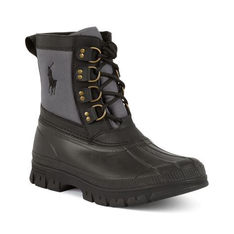 grey polo boots ralph crestwick laceup boots in black for grey