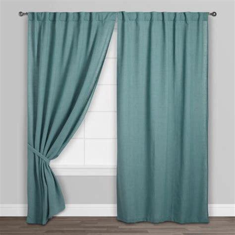 ocean blue curtains ocean blue bella concealed tab top curtains set of 2