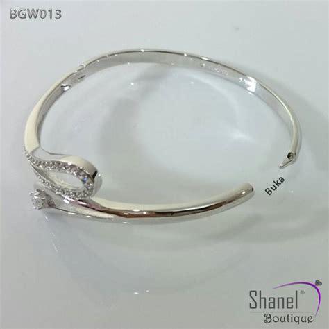 Gelang Tangan Bangle jual gelang tangan bangle lapis emas putih 18k bgg013