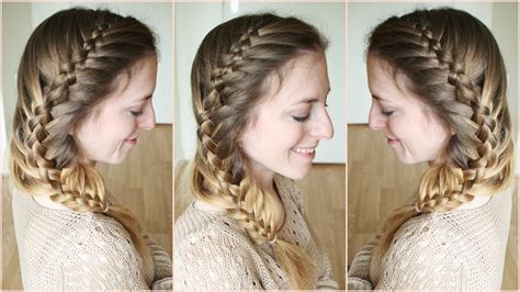 how to big french side braid youtube side woven french fishtail braid braidsandstyles12 youtube
