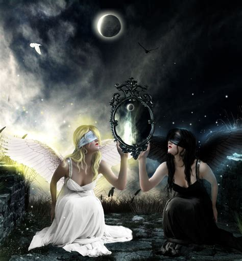 mirror of good and evil by antonellab on deviantart