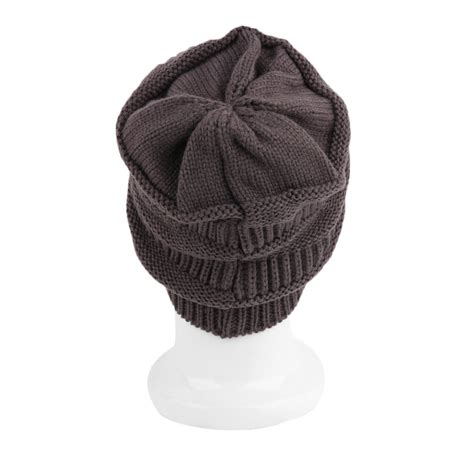 womens twist vertical bar knit slouchy beanie