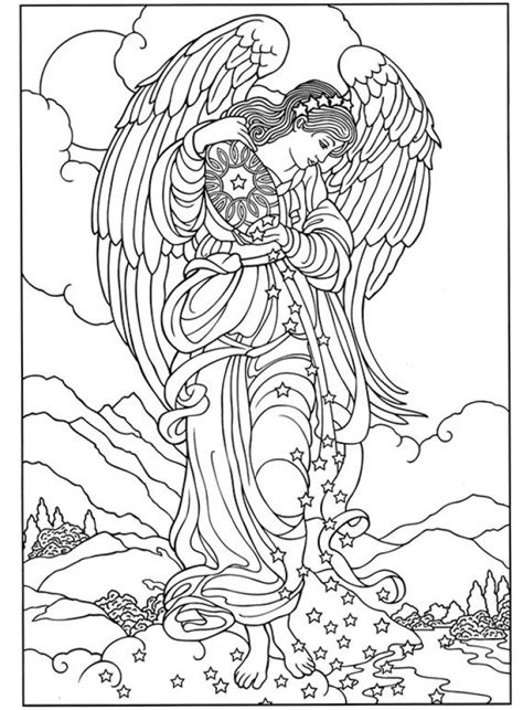 coloring book pages of angels 20 free printable angel coloring pages for adults