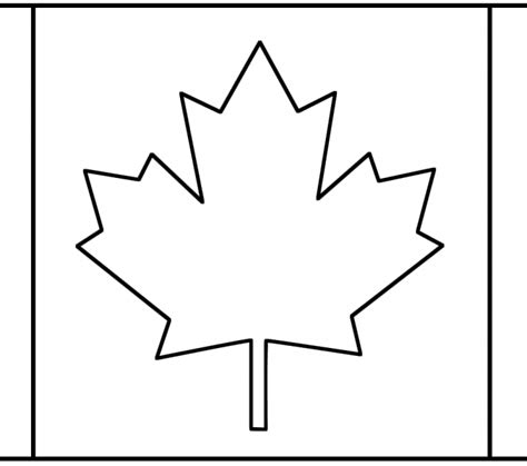 Canadian Flag Printable Kids Coloring Europe Travel Canada Flag Template