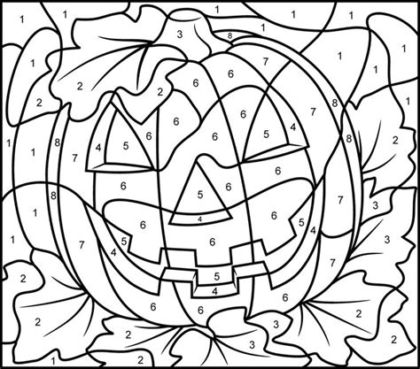 halloween coloring pages by number jack o lantern pumpkin color by number activity coloring