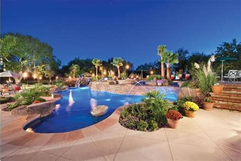 Lagoon Style Pool Features Luxury Pools