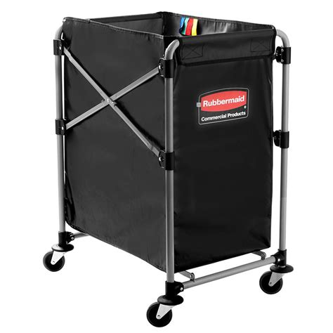 Rubbermaid 1881749 Laundry Cart W Collapsible Basket 24 Rubbermaid Laundry