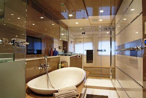 yacht interior layout motor yacht noor master bathroom yacht charter