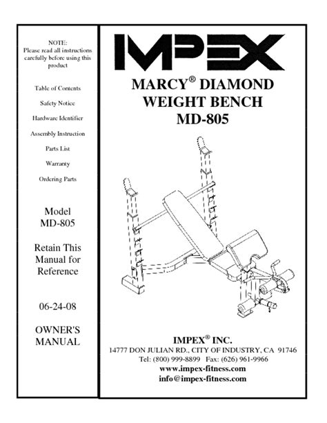 Marcy Weight Bench Instructions Home Gym Users Guides Quot Home Gym Quot Page 119