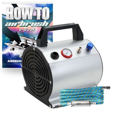 pointzero low noise less airbrush air compressor with 6 ft hose 1 6 hp walmart