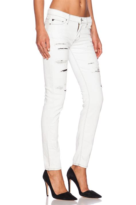 hudson nico mid rise in white lyst